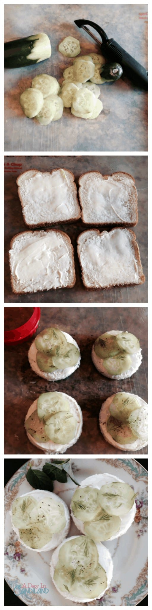 Cucumber Tea Sandwich Long Collage