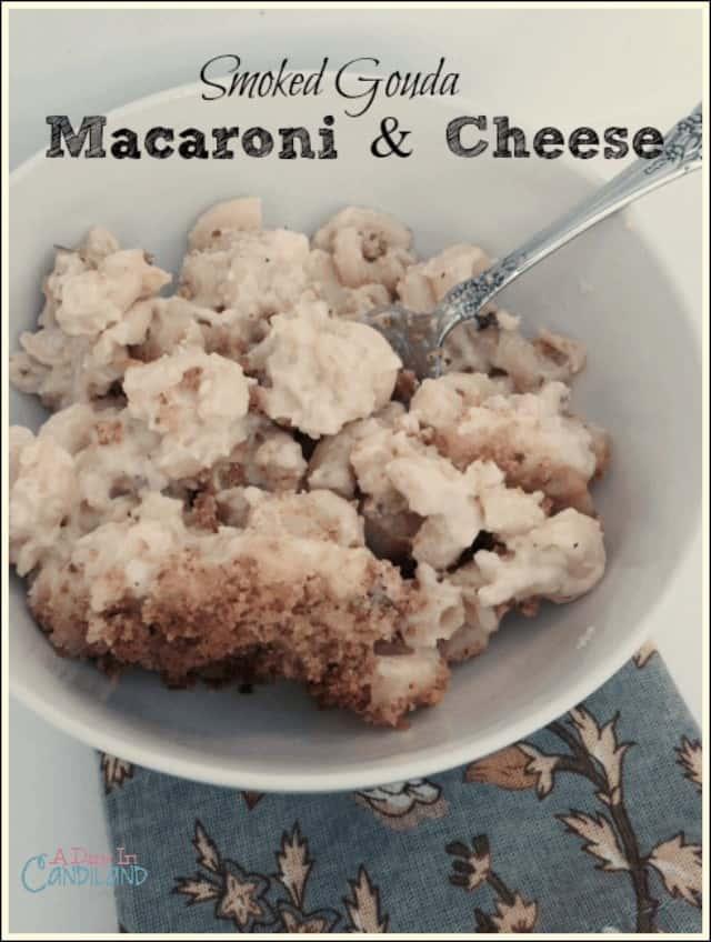 Smoked Gouda Macaroni and Cheese in bowl