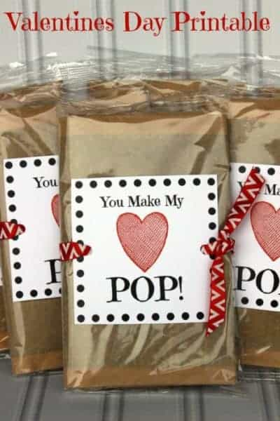 You Make my Heart POP! Valentines Day Printable