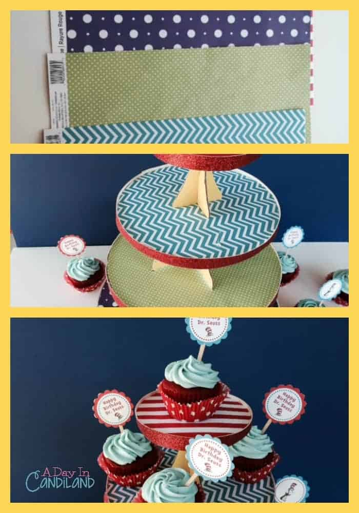 Dr. Seuss Cupcake Stand Collage