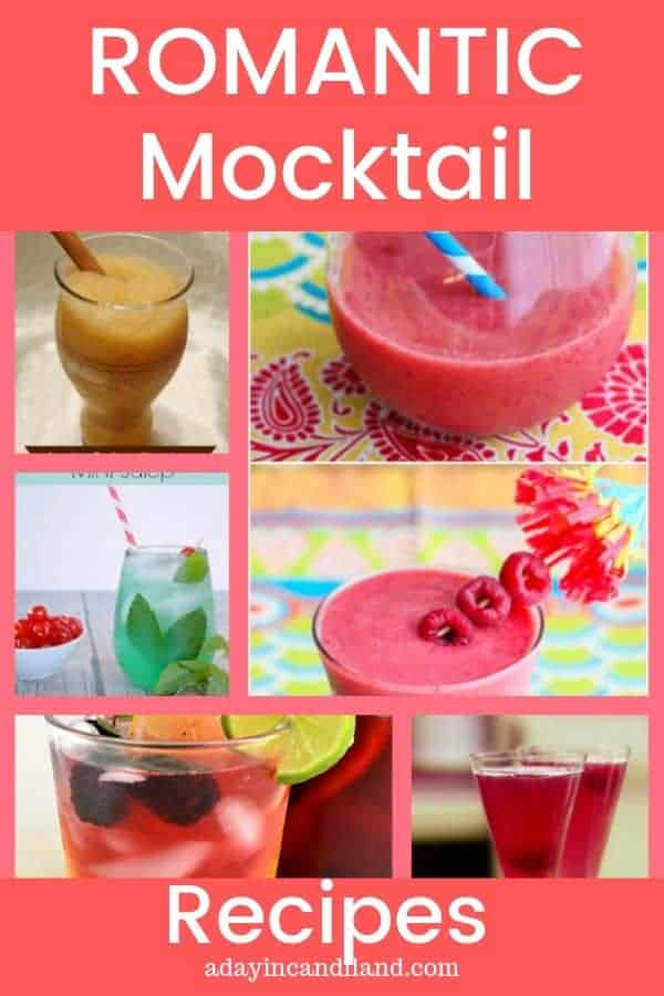 Romantic Mocktail Recipes for your next date night or non alcoholic get together