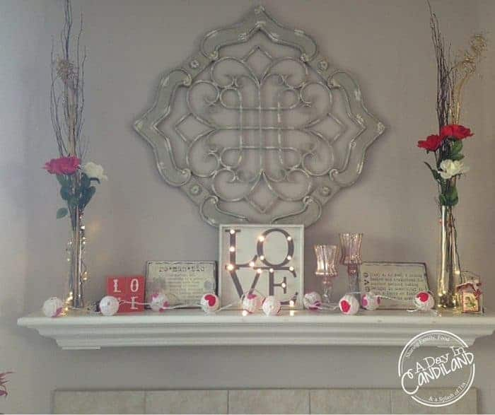 Romantic Valentines Season Mantel Decor