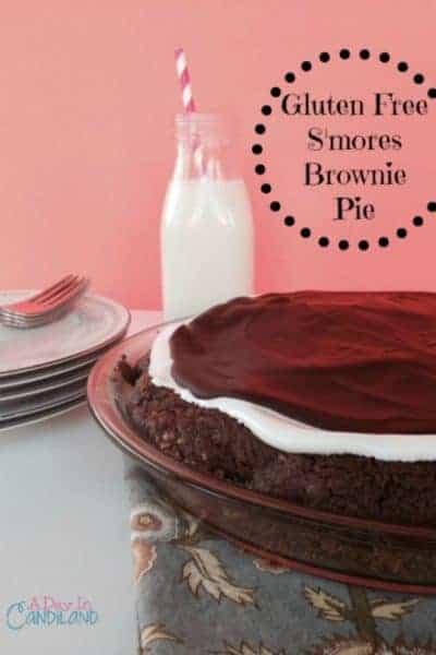 Gluten Free S'mores Brownie Pie