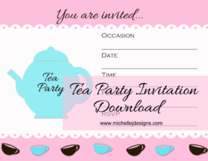 Tea Party Invite Picture 1