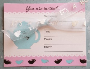 Tea Party Invite for Baby Shower