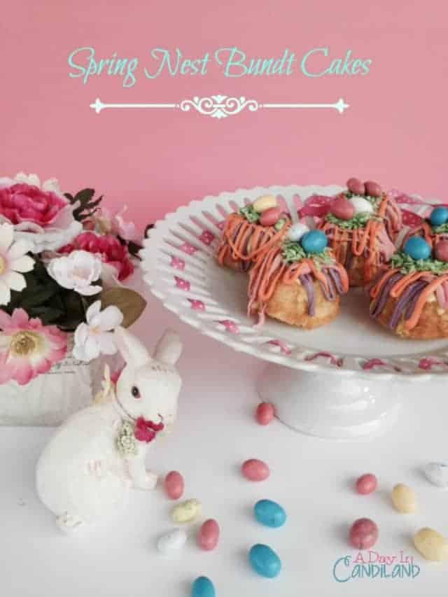 Spring Nest Bundt Cakes