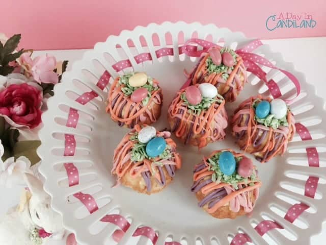 Spring Nest Bundt cakes with eggs