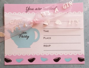 Tea Party Invite for a Baby Shower