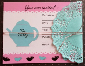 Tea Party Invite with Doily