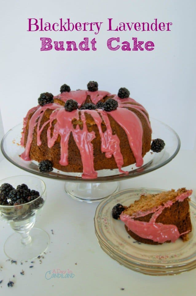 This blackberry lavender bundt cake is moist and great for breakfast or your next party and get together