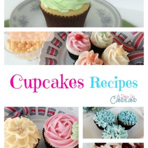 Cupcake Recipes from A Day in Candiland. Lots of delicious recipes for your family and friends