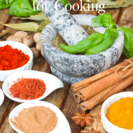 My favorite herbs and spices for cooking.