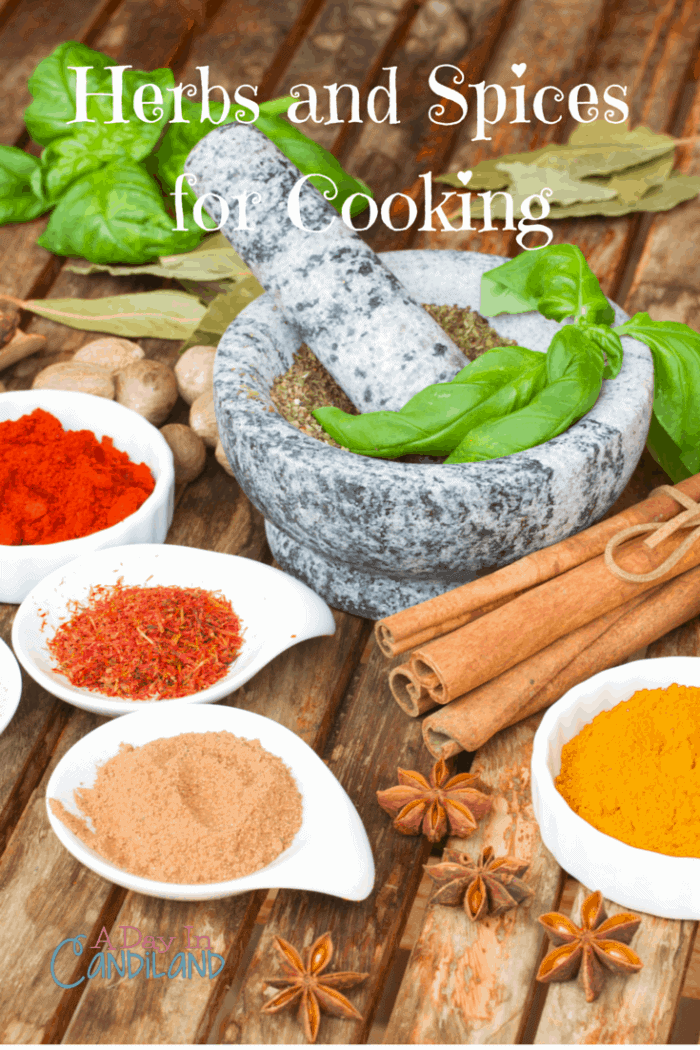 Favorite Herbs and Spices used in Cooking List