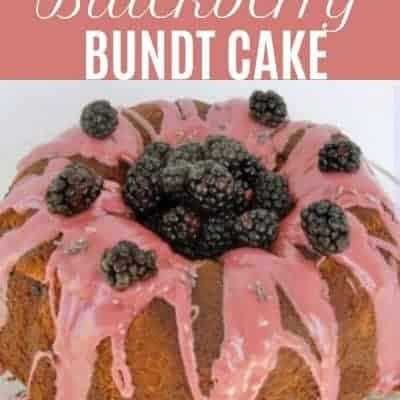 Blackberry Lavender Bundt Cake