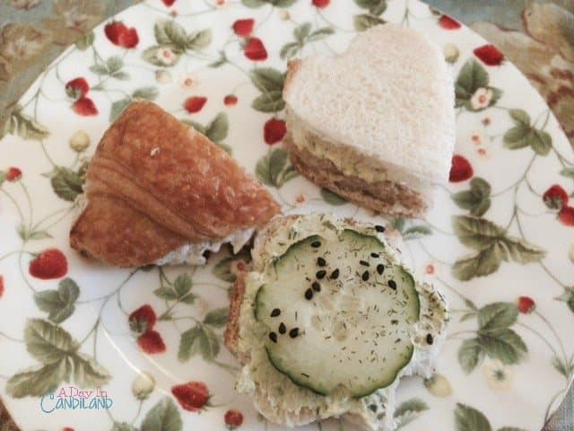 Belladonna tea sandwiches for afternoon tea