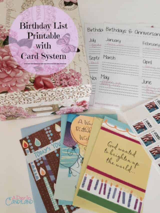 Birthday Card Organization System with Free Printable List