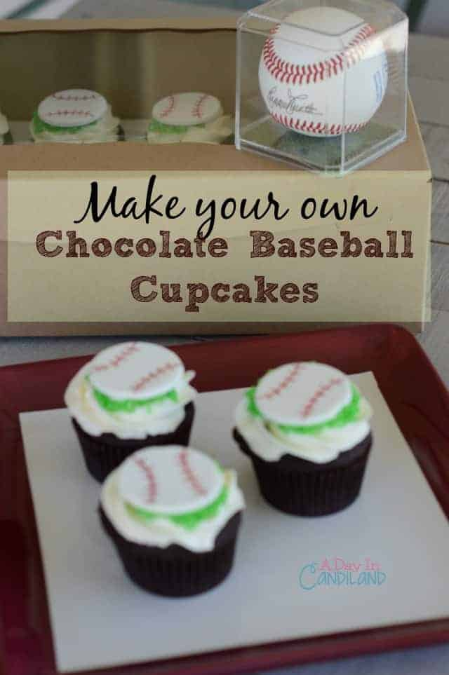 Chocolate Baseball Cupcakes