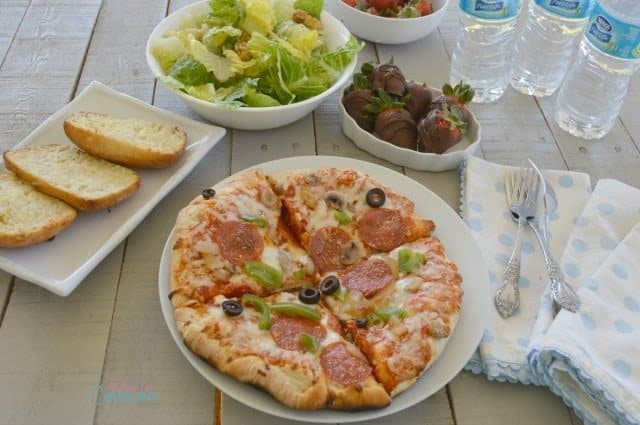 Family Barbecue Dinner with The Works Pizza by California Pizza Kitchen