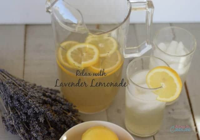 Relax with Lavender Lemonade