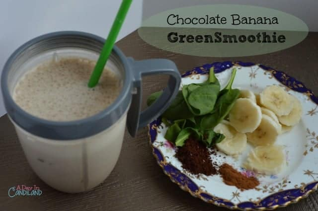 Chocolate Banana Green Smoothie
