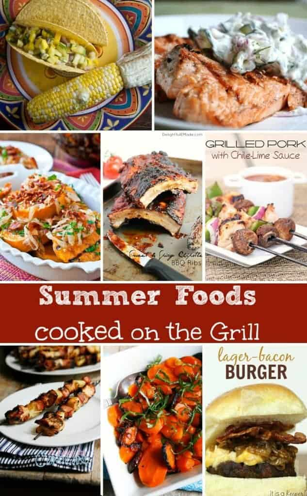Best Summer Grilling Recipes collage of foods you can cook on the grill