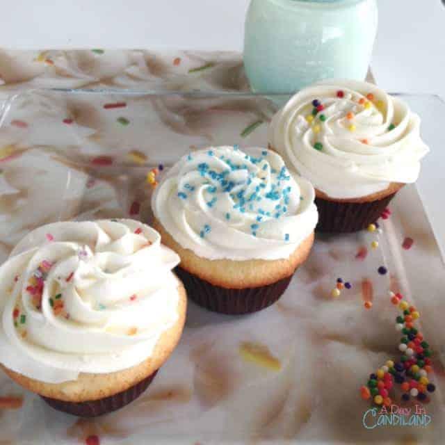 The Best Vanilla Birthday Cupcakes