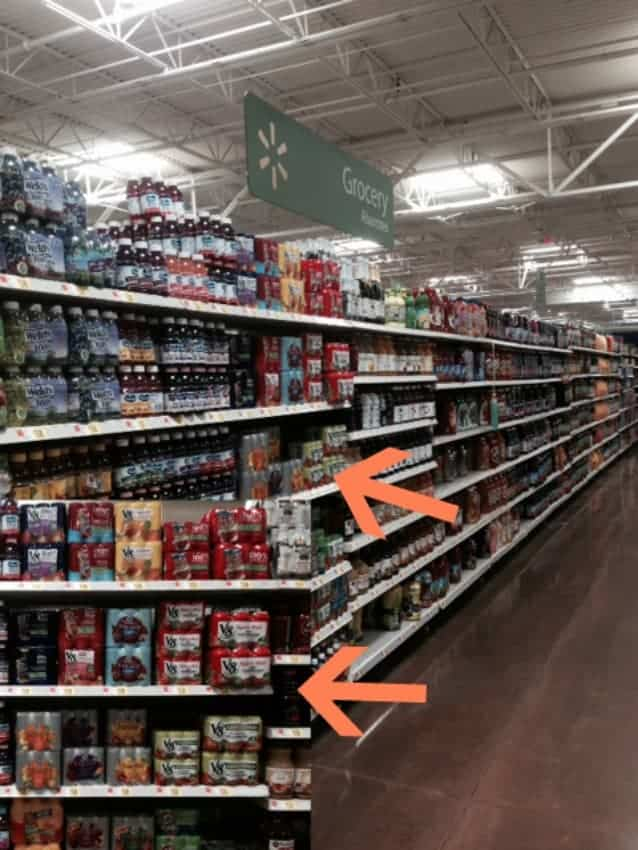 Walmart aisle for V8 Fusion
