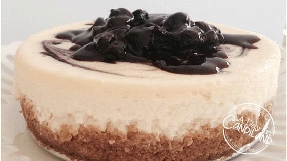 6- Lemon Blueberry Swirl Cheesecake