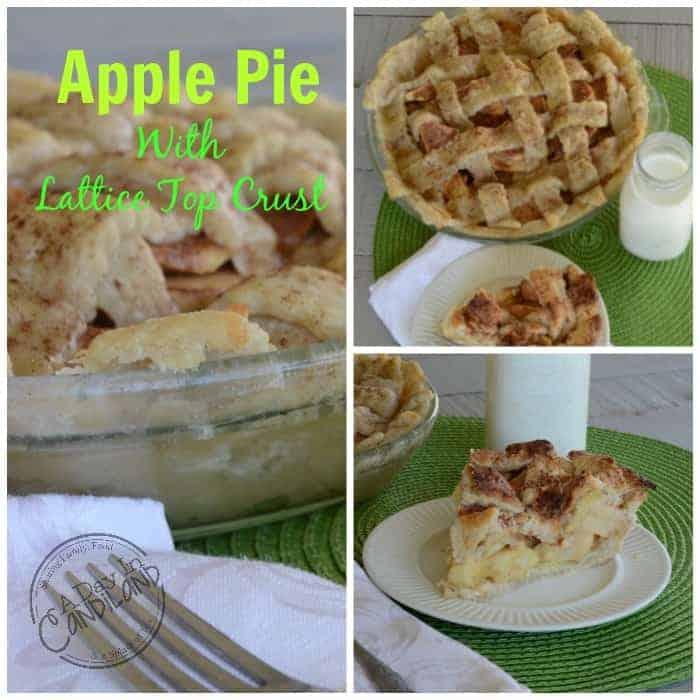 Apple Pie-with-Lattice-Top-Crust. A tart apple pie with a beautiful homemade crust.