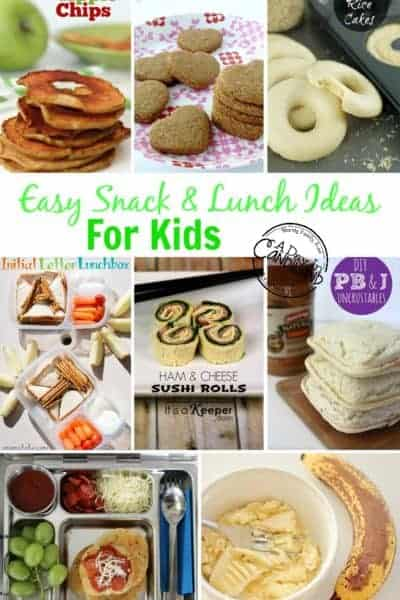 Easy Kids School Lunch and Snack Ideas with Printable