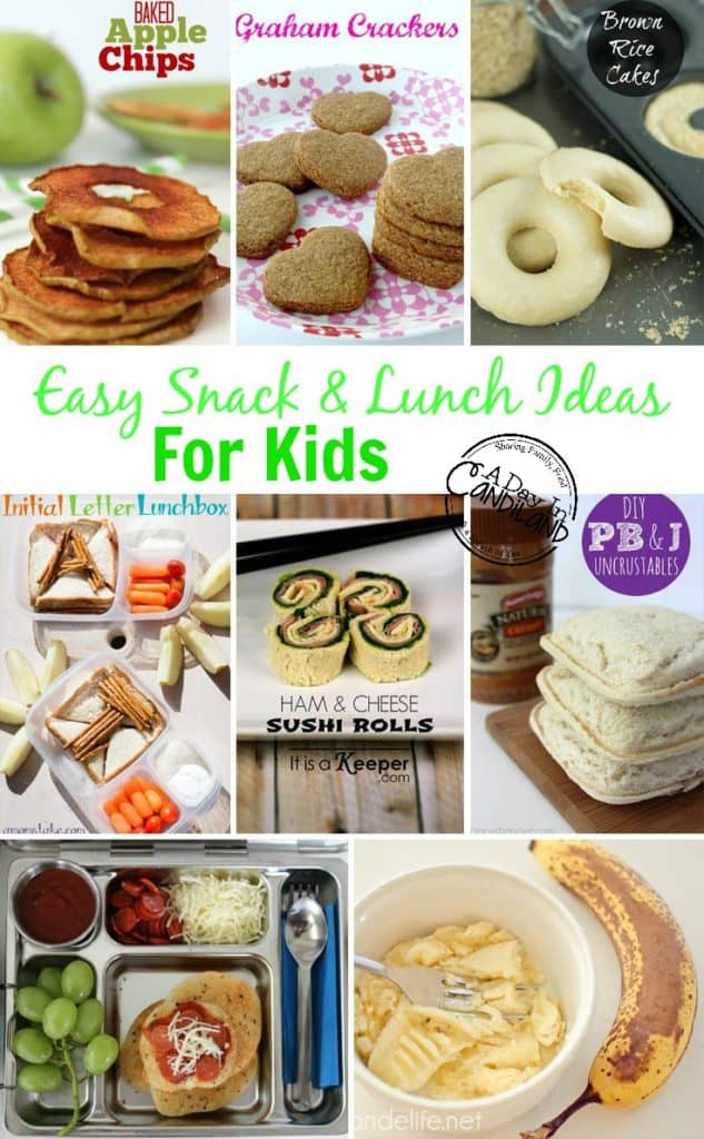 Easy kid's school lunch and snack ideas with Free printable menu