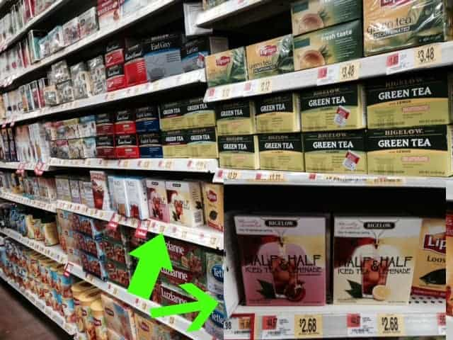 Bigelow Tea in store aisle image