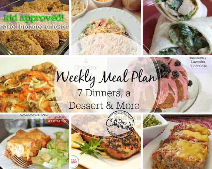 WeeklyMealPlanning made easy Week 1
