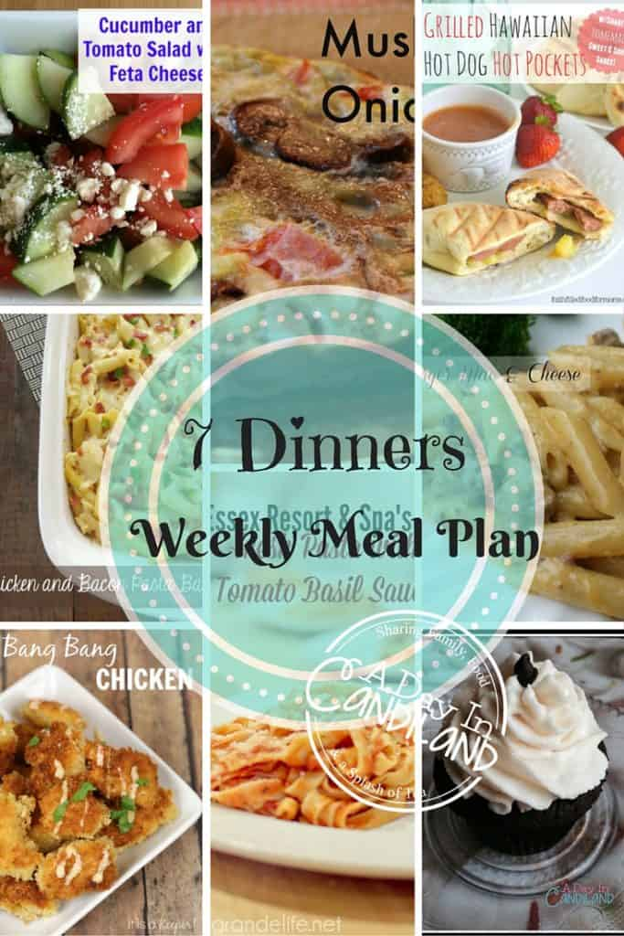 7 Dinners for weekly meal plan
