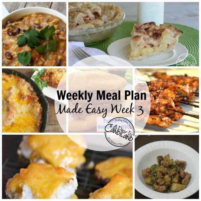 Weekly Meal Plan Made Easy Week 3