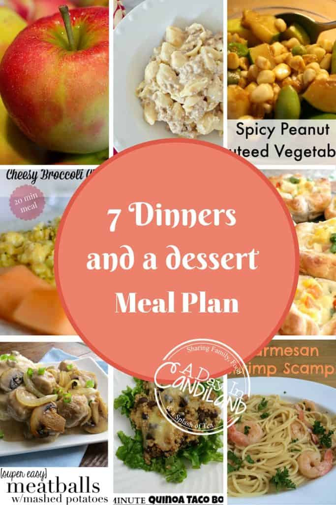 7 Dinners and a dessert Week 7