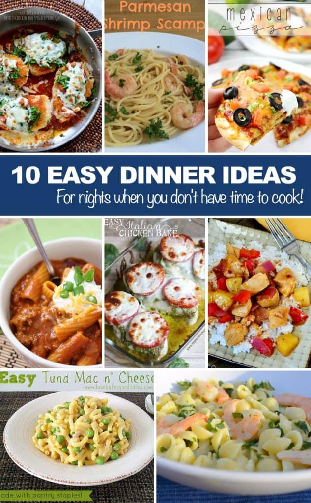 Easy Dinner Ideas for Meal Plans made easy