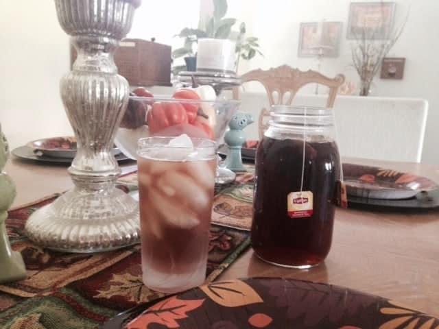 Lipton Iced Tea plate setting