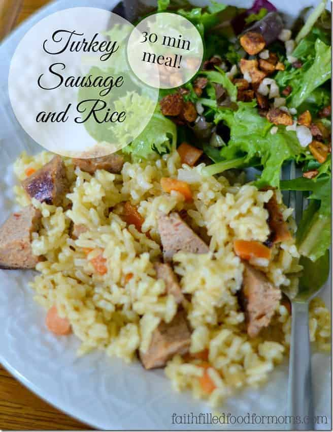 Turkey Sausage and rice meal plan made easy