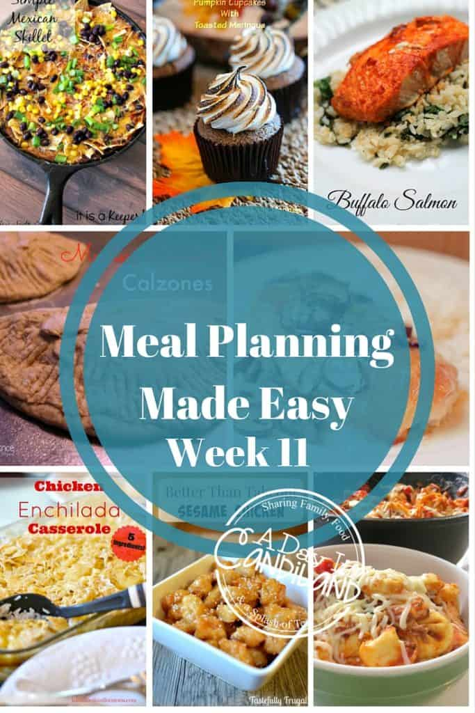 Meal Planning Made Easy Week 11