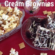 Easy Cookie and Cream Brownies #wincocheer