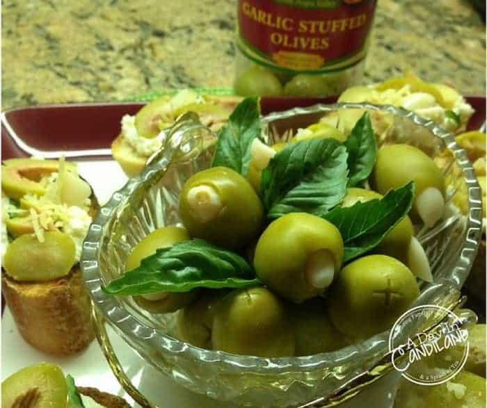 Garlic Olive Crostini #MezzettaMemories