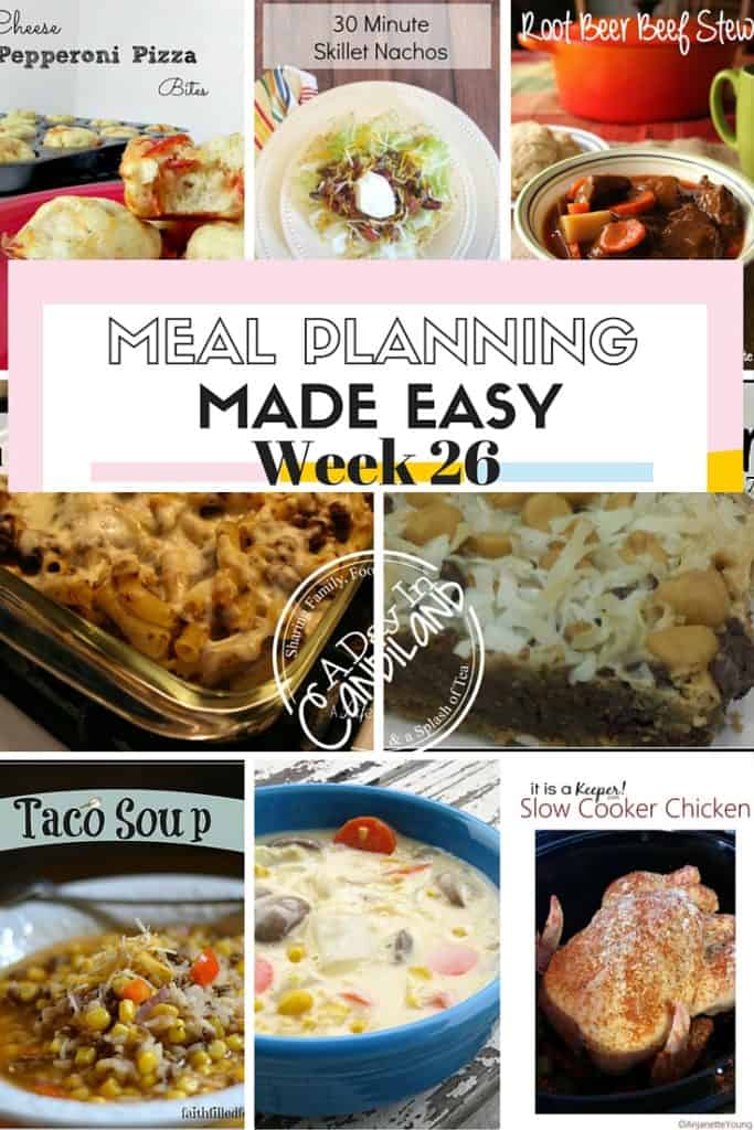 Meal Planning Made Easy Week 26