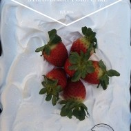 Sparkling Cider Strawberry Poke Cake