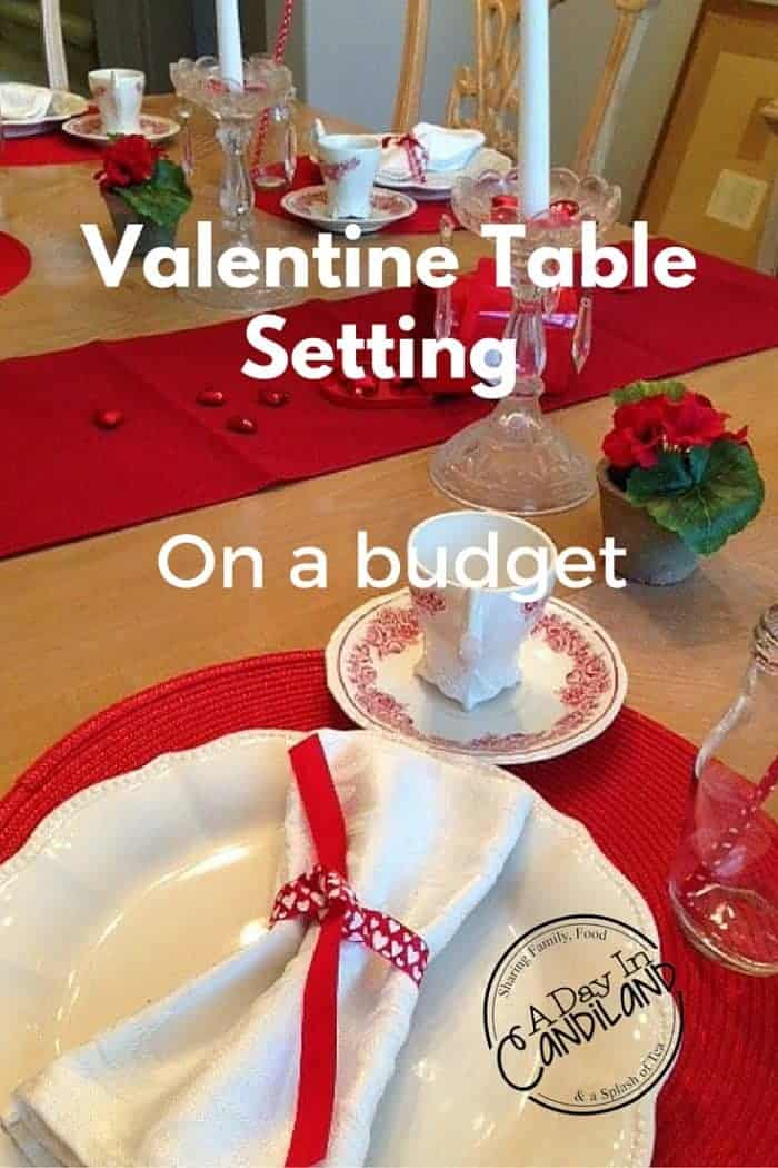 Valentines Table Setting on a Budget