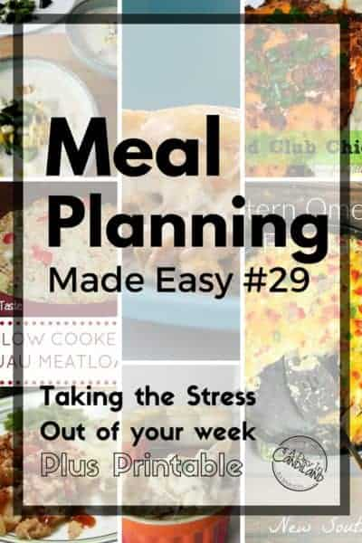 Meal Planning Made Easy Week 29