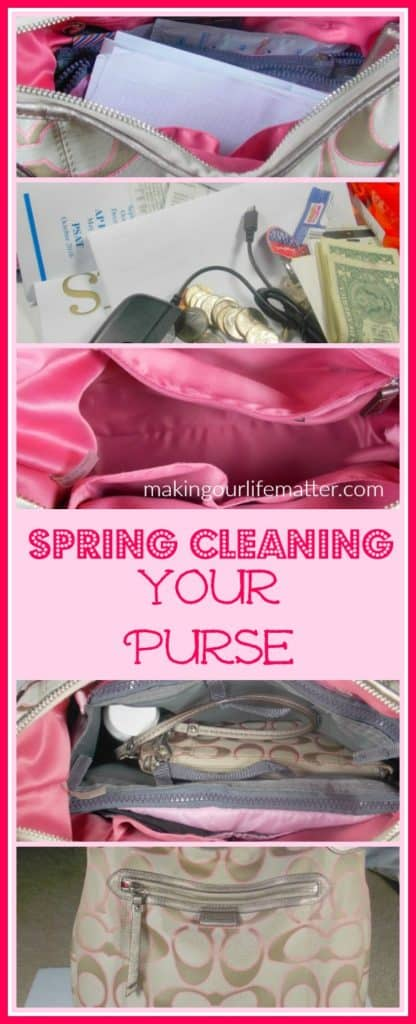 spring cleaning your purse