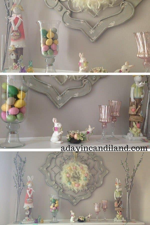 Bunny Inspired Spring Mantel