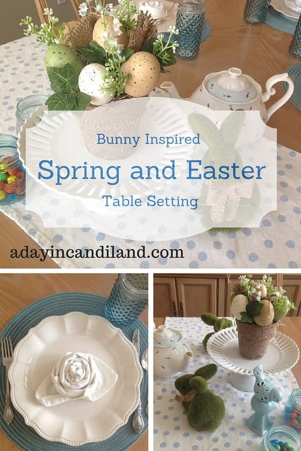 Bunny inspired Easter and Spring Table Setting
