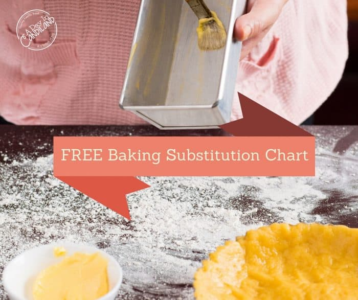 Free Baking Ingredients Substitution Chart